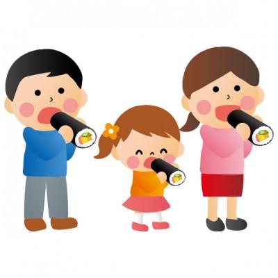 家族で恵方巻き
