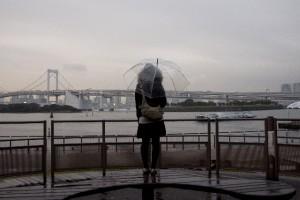 レインボーブリッジ雨